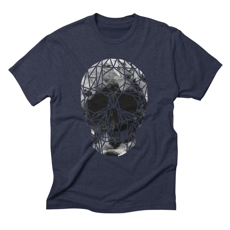 Crystal Skull B+W Infrared Men's Triblend T-Shirt by ANTHROPOLESLEY