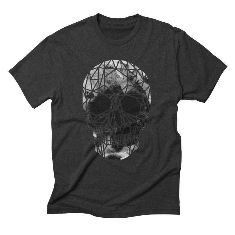 Crystal Skull B+W Infrared Men's Triblend T-Shirt by ANTHROPOLESLEY
