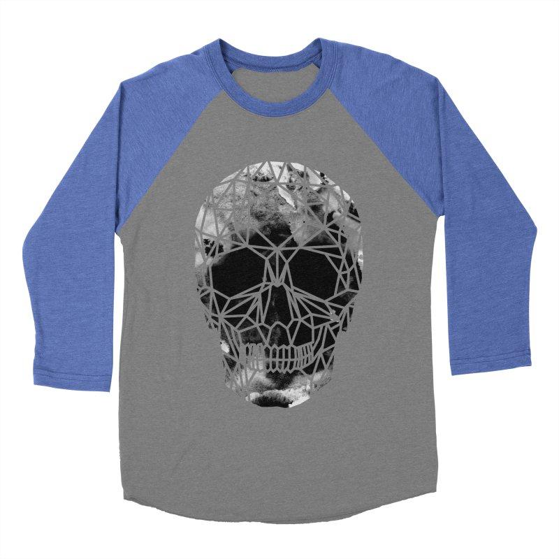 Crystal Skull B+W Infrared Men's Baseball Triblend Longsleeve T-Shirt by ANTHROPOLESLEY