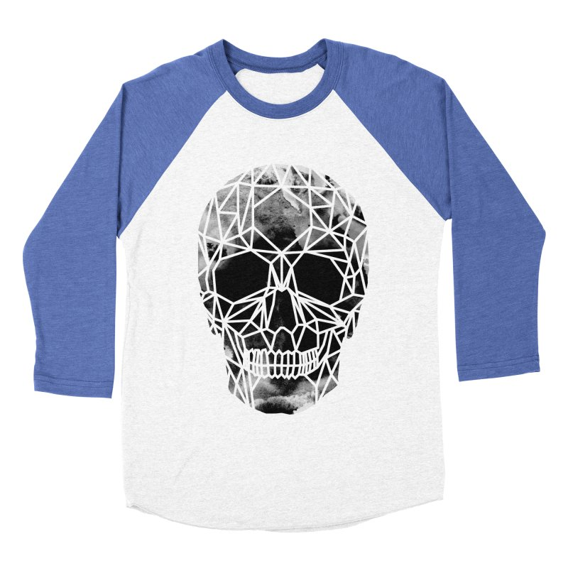 Crystal Skull B+W Infrared Men's Baseball Triblend Longsleeve T-Shirt by ANTHROPOLESLEY