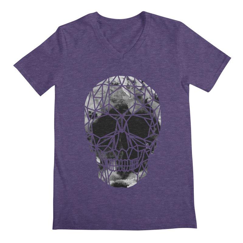 Crystal Skull B+W Infrared Men's Regular V-Neck by ANTHROPOLESLEY