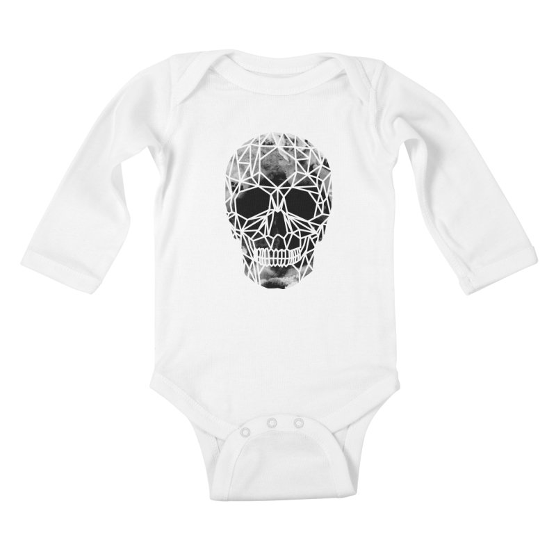 Crystal Skull B+W Infrared Kids Baby Longsleeve Bodysuit by ANTHROPOLESLEY