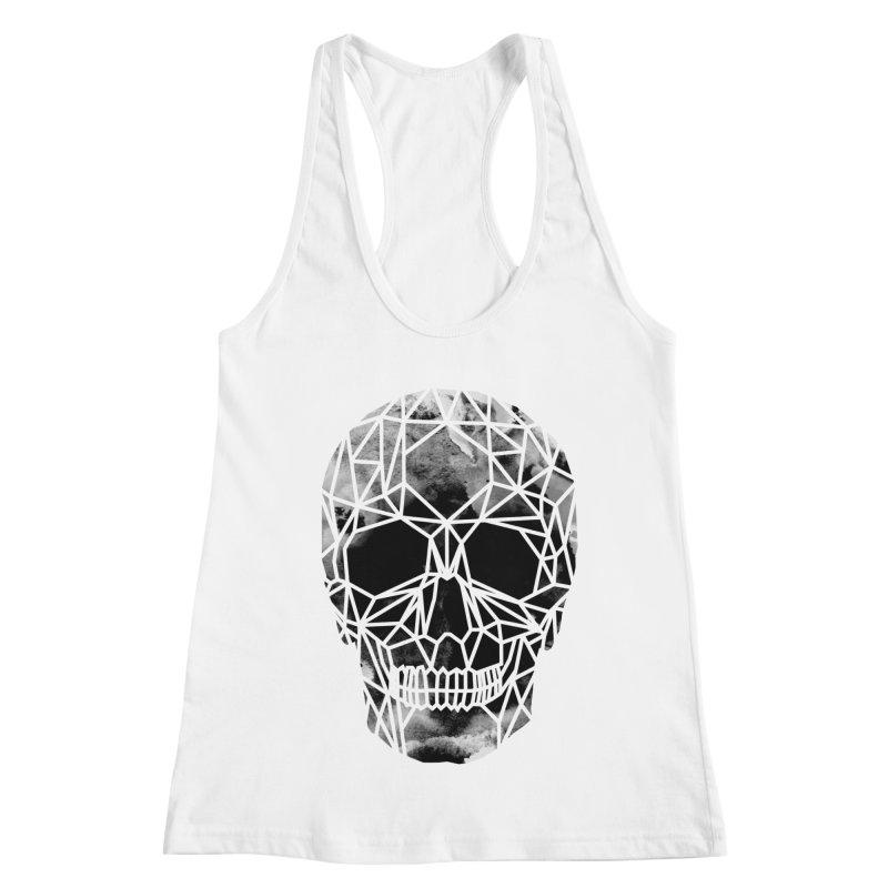 Crystal Skull B+W Infrared Women's Racerback Tank by ANTHROPOLESLEY