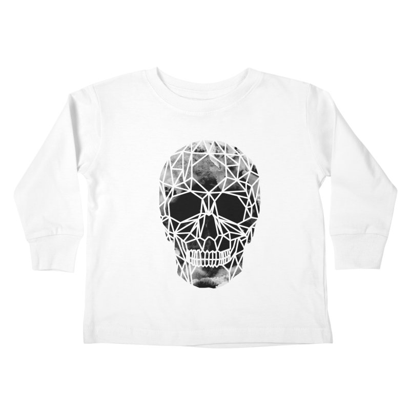Crystal Skull B+W Infrared Kids Toddler Longsleeve T-Shirt by ANTHROPOLESLEY