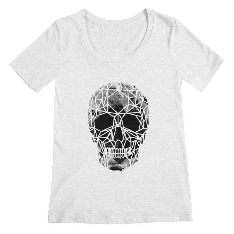 Crystal Skull B+W Infrared Women's Regular Scoop Neck by ANTHROPOLESLEY