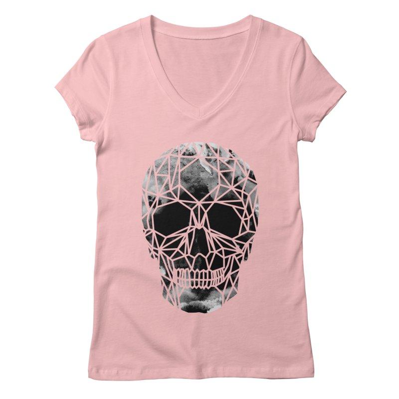 Crystal Skull B+W Infrared Women's Regular V-Neck by ANTHROPOLESLEY