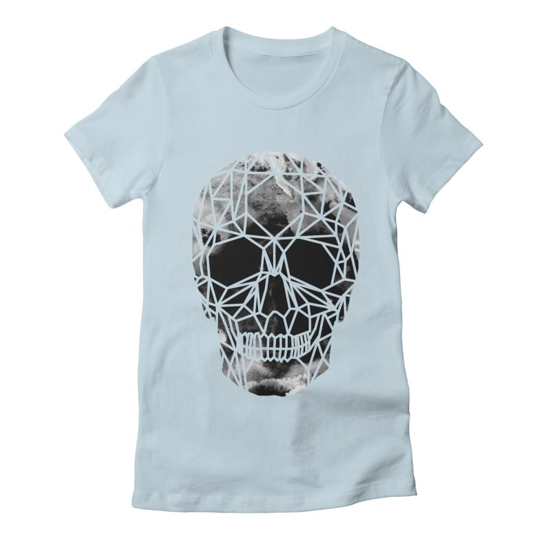 Crystal Skull B+W Infrared Women's Fitted T-Shirt by ANTHROPOLESLEY
