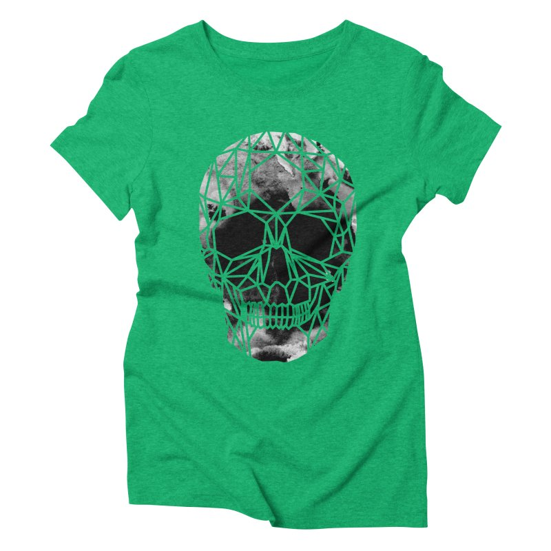 Crystal Skull B+W Infrared Women's Triblend T-Shirt by ANTHROPOLESLEY