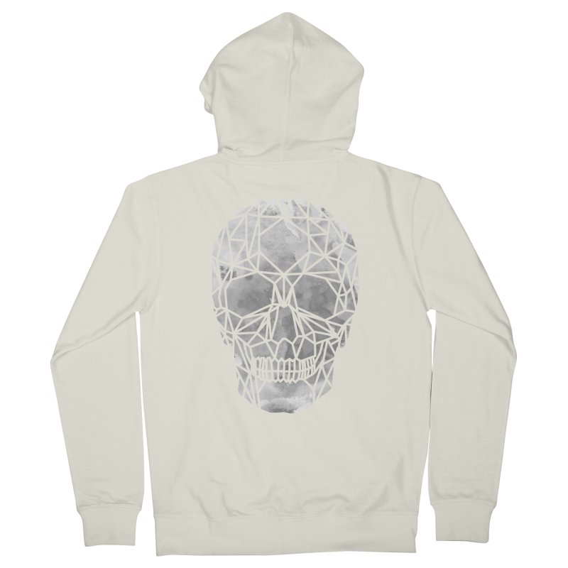 Crystal Skull B+W Chrome Men's Zip-Up Hoody by ANTHROPOLESLEY
