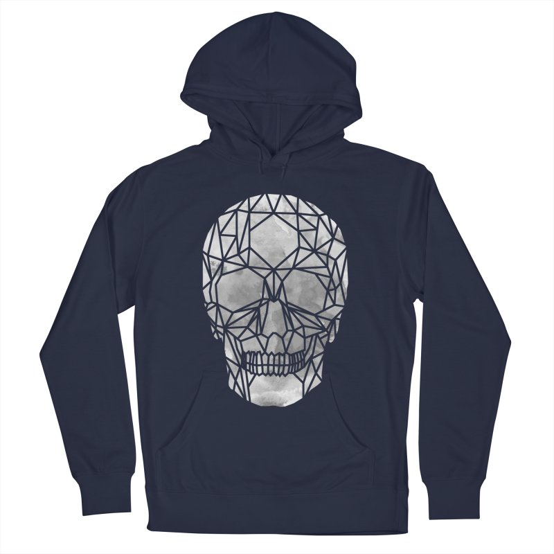 Crystal Skull B+W Chrome Women's French Terry Pullover Hoody by ANTHROPOLESLEY
