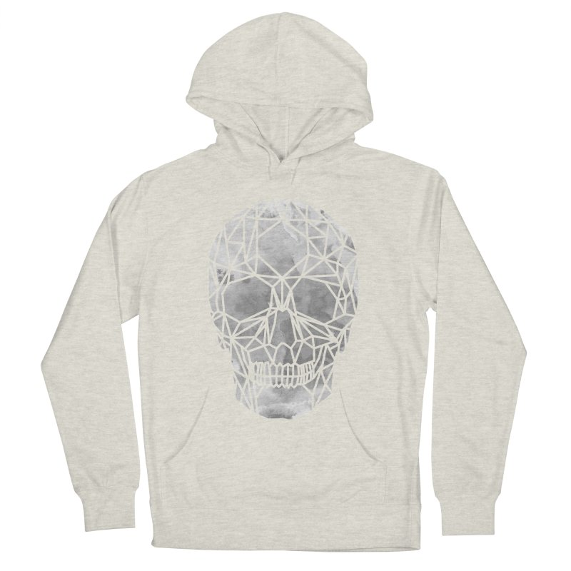 Crystal Skull B+W Chrome Men's French Terry Pullover Hoody by ANTHROPOLESLEY