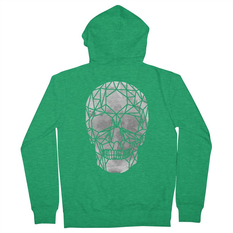 Crystal Skull B+W Chrome Women's Zip-Up Hoody by ANTHROPOLESLEY