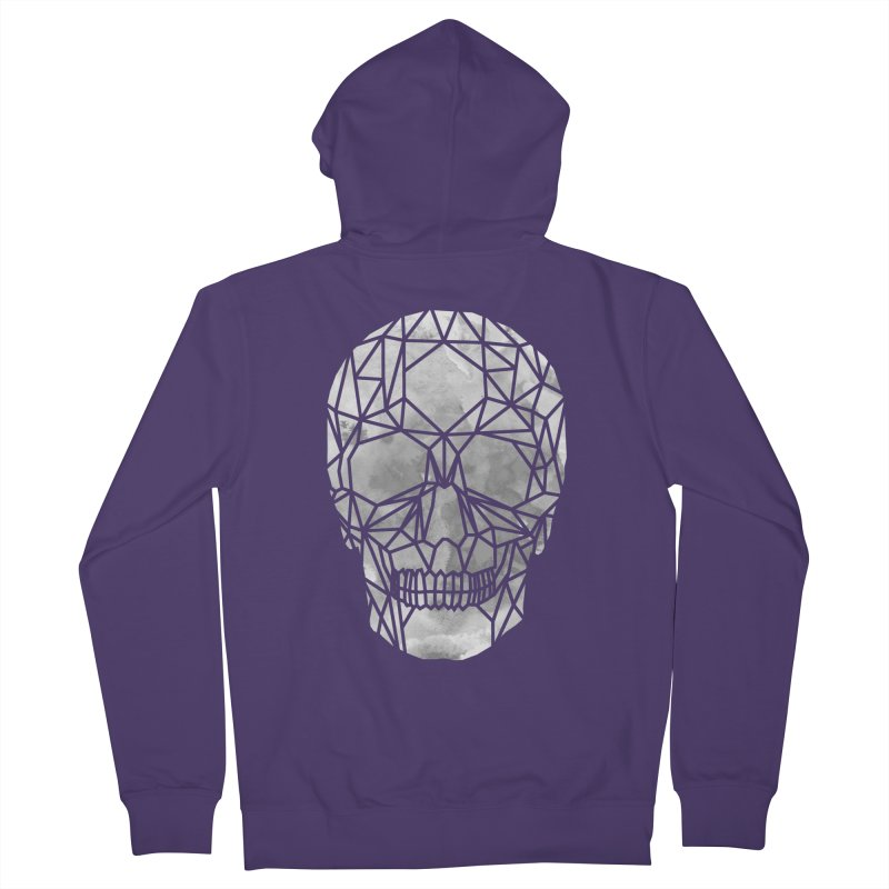 Crystal Skull B+W Chrome Women's French Terry Zip-Up Hoody by ANTHROPOLESLEY