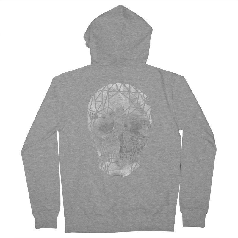 Crystal Skull B+W Chrome Men's French Terry Zip-Up Hoody by ANTHROPOLESLEY