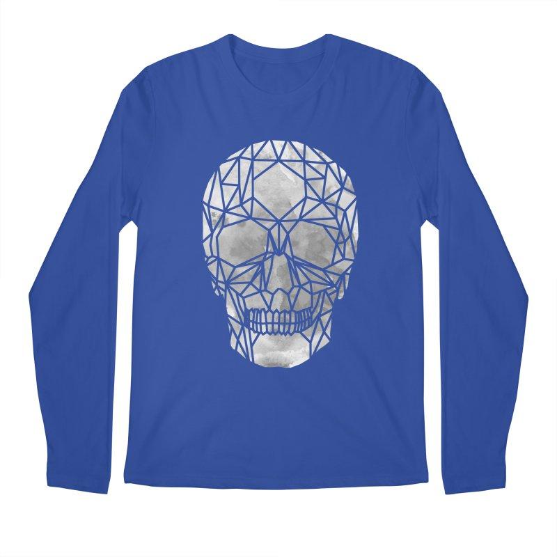 Crystal Skull B+W Chrome Men's Regular Longsleeve T-Shirt by ANTHROPOLESLEY