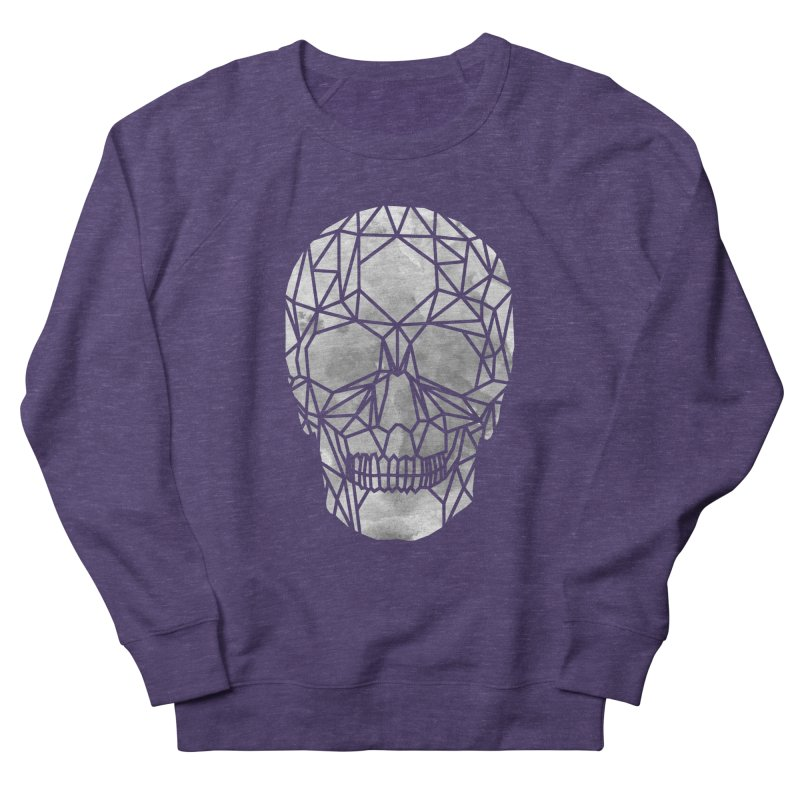 Crystal Skull B+W Chrome Men's French Terry Sweatshirt by ANTHROPOLESLEY