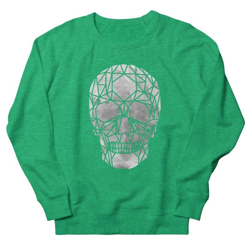 Crystal Skull B+W Chrome Men's French Terry Sweatshirt by ANTHROPOLESLEY