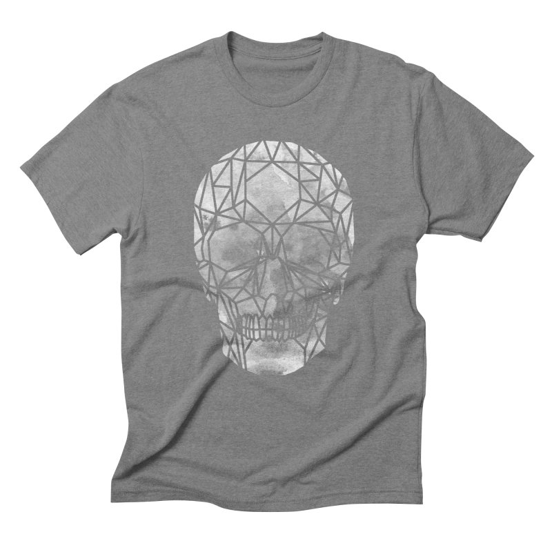 Crystal Skull B+W Chrome Men's Triblend T-Shirt by ANTHROPOLESLEY