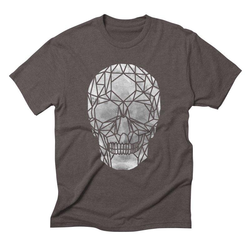 Crystal Skull B+W Chrome Men's Triblend T-Shirt by ANTHROPOLESLEY