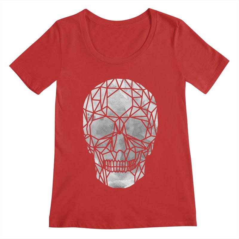 Crystal Skull B+W Chrome Women's Regular Scoop Neck by ANTHROPOLESLEY