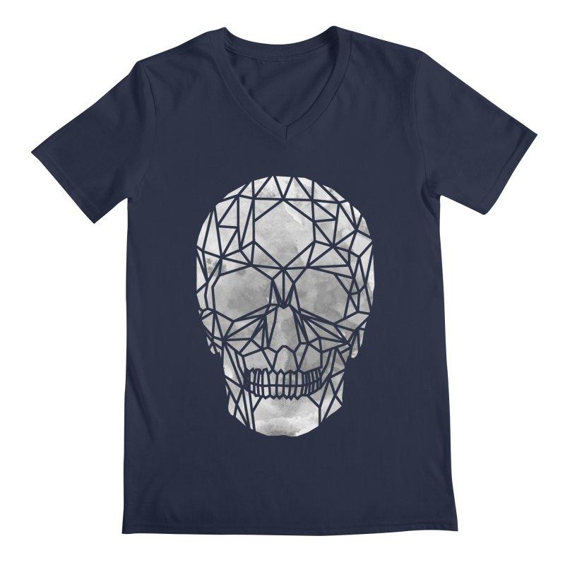 Crystal Skull B+W Chrome Men's Regular V-Neck by ANTHROPOLESLEY