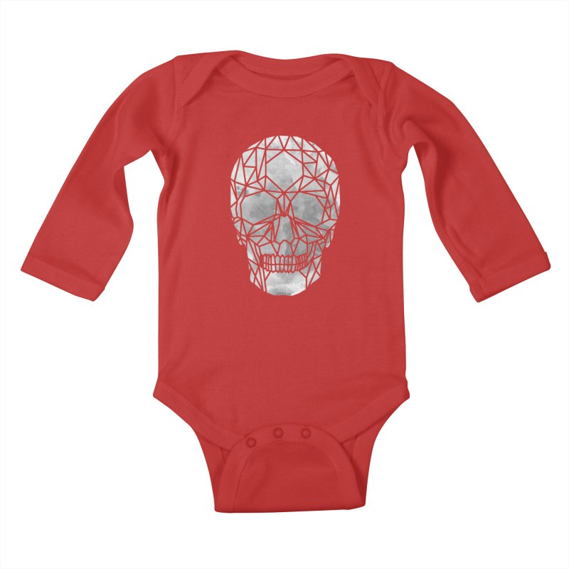Crystal Skull B+W Chrome Kids Baby Longsleeve Bodysuit by ANTHROPOLESLEY