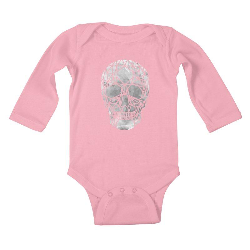 Crystal Skull B+W Chrome Kids Baby Longsleeve Bodysuit by ANTHROPOLESLEY