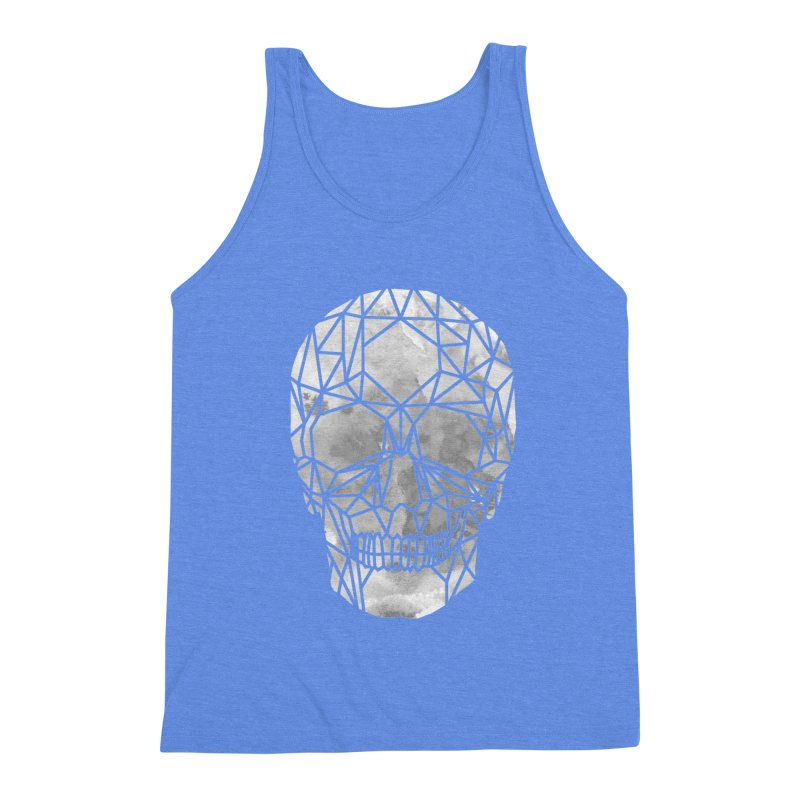 Crystal Skull B+W Chrome Men's Triblend Tank by ANTHROPOLESLEY