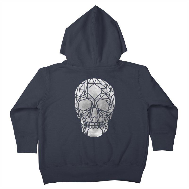 Crystal Skull B+W Chrome Kids Toddler Zip-Up Hoody by ANTHROPOLESLEY