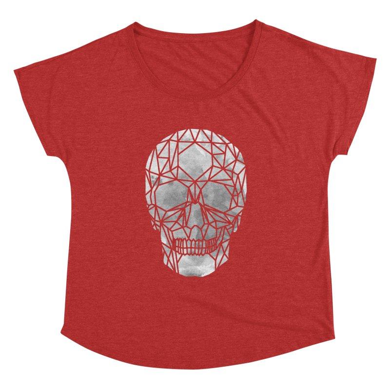 Crystal Skull B+W Chrome Women's Dolman Scoop Neck by ANTHROPOLESLEY