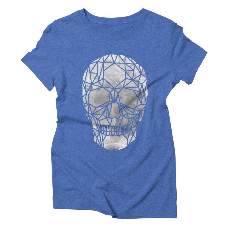 Crystal Skull B+W Chrome Women's Triblend T-Shirt by ANTHROPOLESLEY