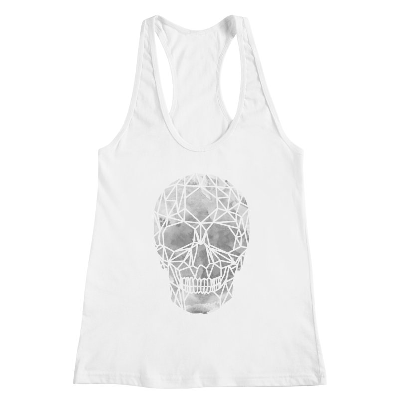 Crystal Skull B+W Chrome Women's Racerback Tank by ANTHROPOLESLEY
