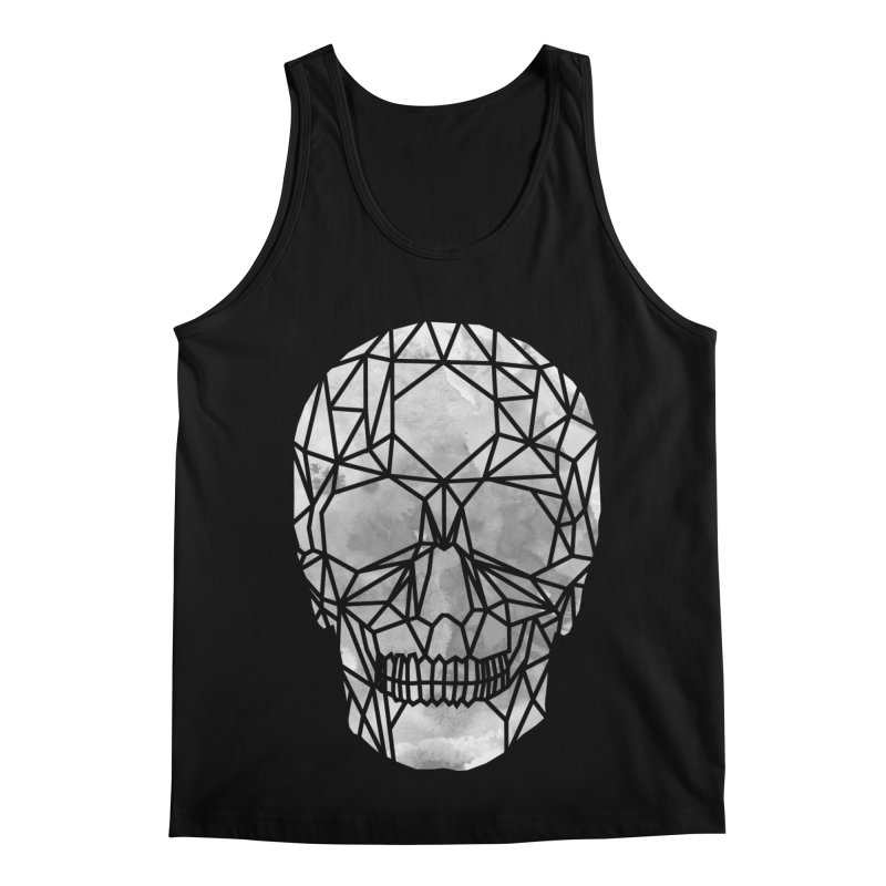 Crystal Skull B+W Chrome Men's Regular Tank by ANTHROPOLESLEY