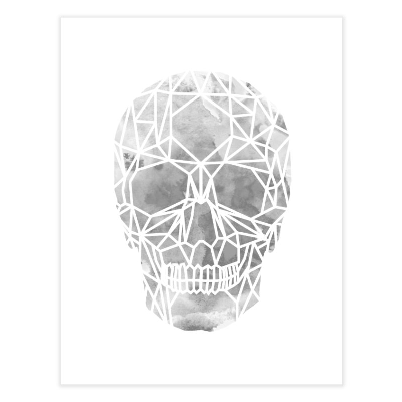 Crystal Skull B+W Chrome Home Fine Art Print by ANTHROPOLESLEY