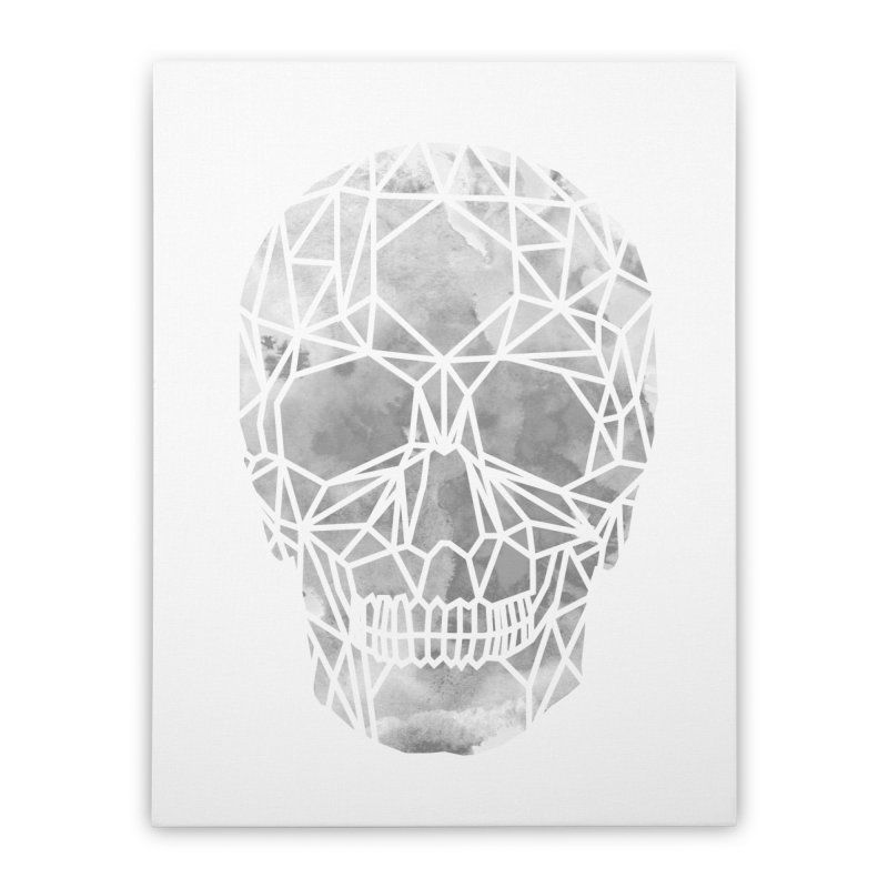 Crystal Skull B+W Chrome Home Stretched Canvas by ANTHROPOLESLEY
