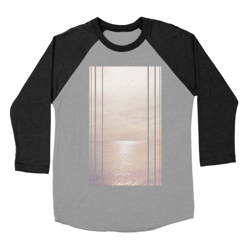 Silver Sky for Planet Provincetown Men's Baseball Triblend Longsleeve T-Shirt by ANTHROPOLESLEY