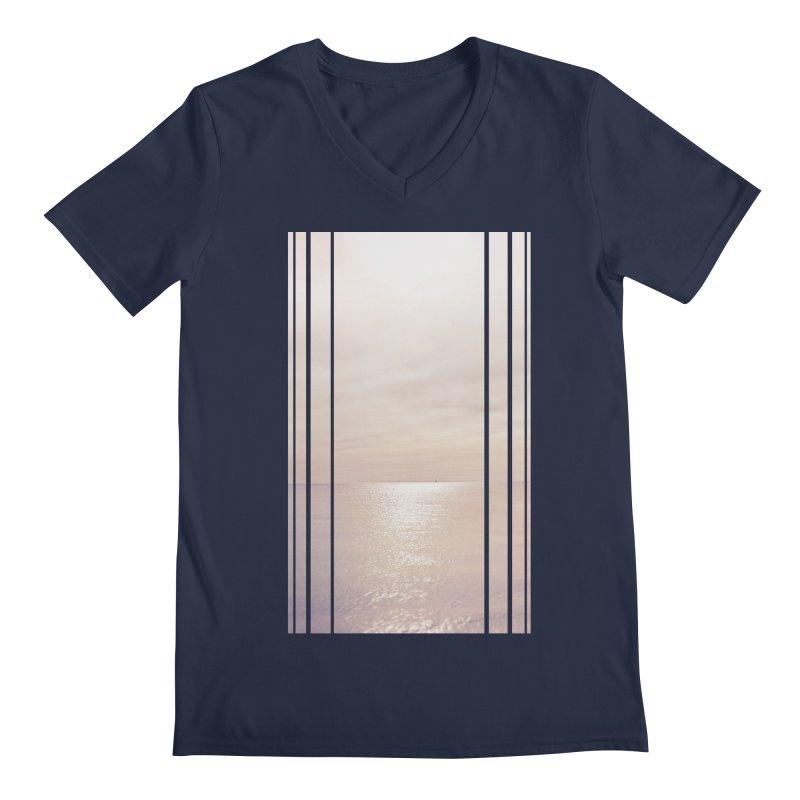 Silver Sky for Planet Provincetown Men's Regular V-Neck by ANTHROPOLESLEY