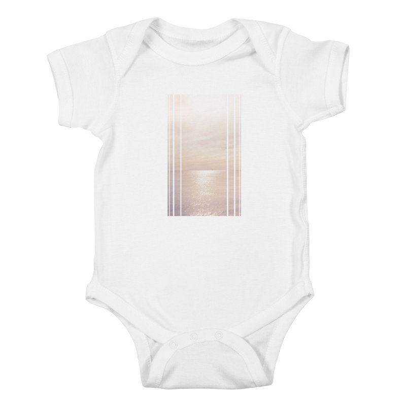 Silver Sky for Planet Provincetown Kids Baby Bodysuit by ANTHROPOLESLEY