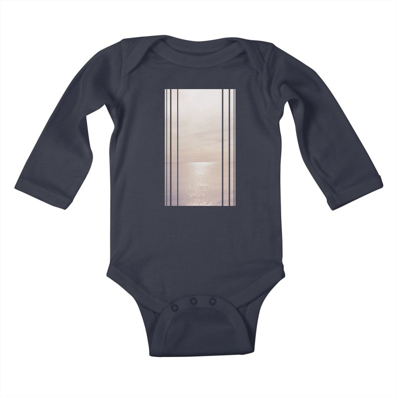 Silver Sky for Planet Provincetown Kids Baby Longsleeve Bodysuit by ANTHROPOLESLEY