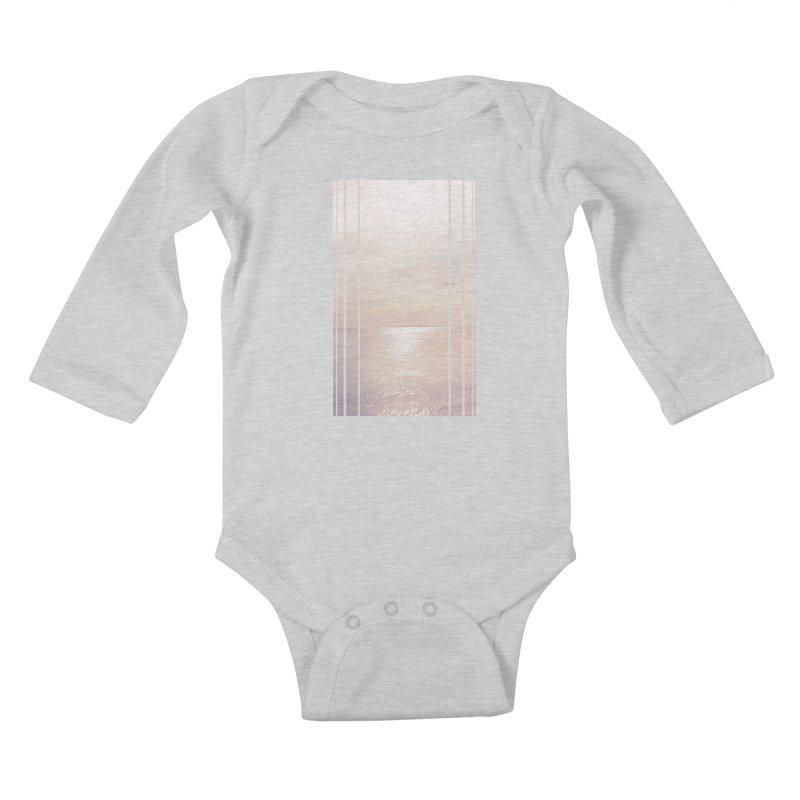 Silver Sky for Planet Provincetown Kids Baby Longsleeve Bodysuit by ANTHROPOLESLEY