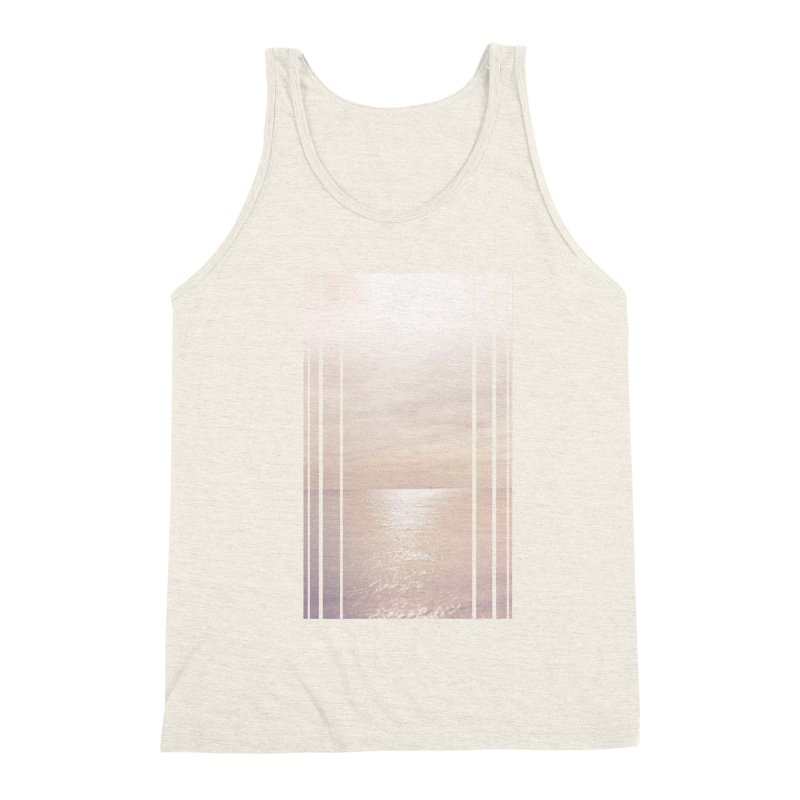 Silver Sky for Planet Provincetown Men's Triblend Tank by ANTHROPOLESLEY