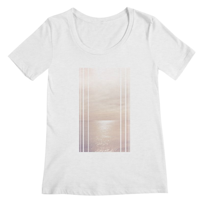 Silver Sky for Planet Provincetown Women's Regular Scoop Neck by ANTHROPOLESLEY