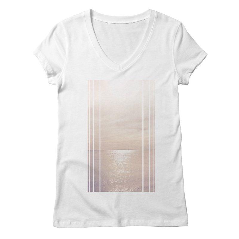 Silver Sky for Planet Provincetown Women's Regular V-Neck by ANTHROPOLESLEY