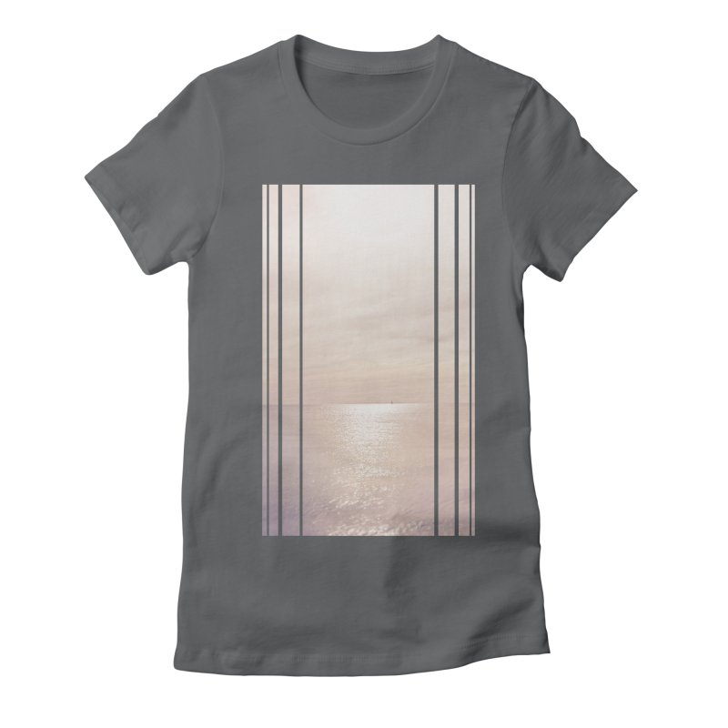 Silver Sky for Planet Provincetown Women's Fitted T-Shirt by ANTHROPOLESLEY