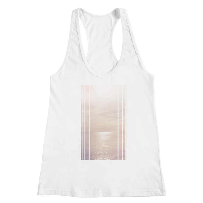 Silver Sky for Planet Provincetown Women's Racerback Tank by ANTHROPOLESLEY