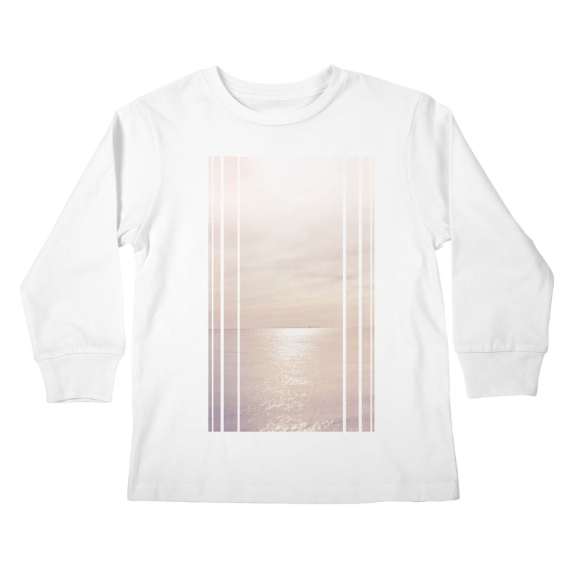 Silver Sky for Planet Provincetown Kids Longsleeve T-Shirt by ANTHROPOLESLEY