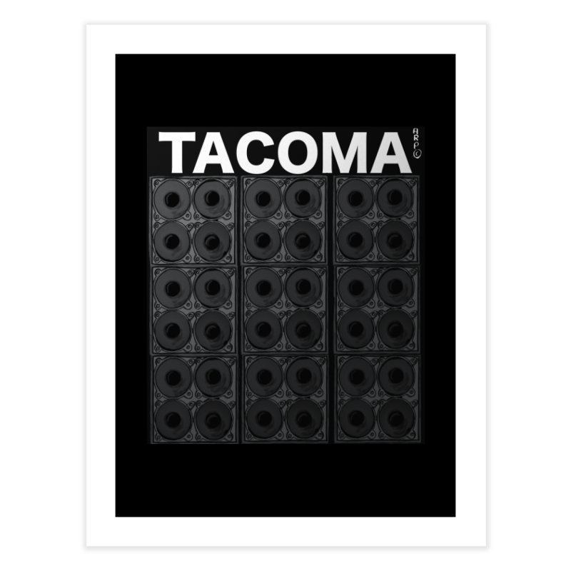 Tacoma Music Poster Home Fine Art Print by ARPTOONS's Artist Shop