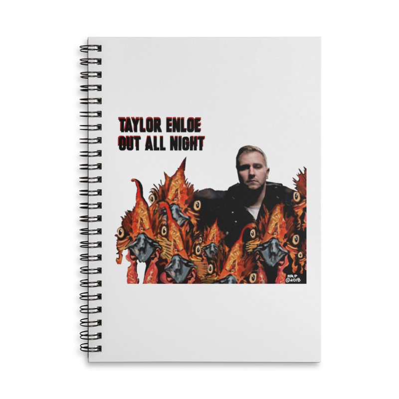 OUT ALL NIGHT Accessories Notebook by ARPTOONS's Artist Shop