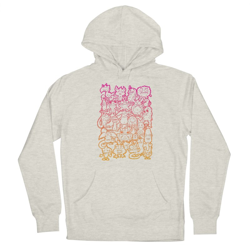 Monster Party - The Great Meeting  Orange/Pink Men's Pullover Hoody by ARTinfusion - Get your's now!