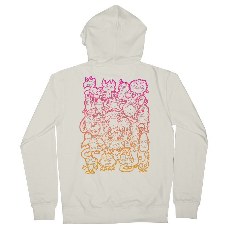 Monster Party - The Great Meeting  Orange/Pink Men's Zip-Up Hoody by ARTinfusion - Get your's now!